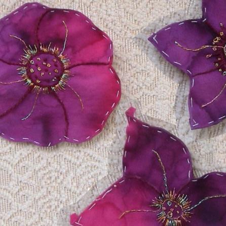 Appliqued flowers