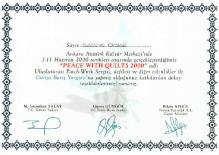 Peace With Quilts - Participation Certificate